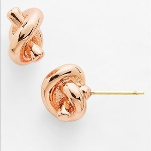 NEW Kate Spade Sailor's Knot Earrings Rose Gold